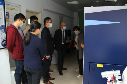 Associate Director See-Tong Pang and his team visits valuable instruments and equipment